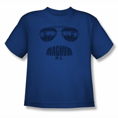 Magnum PI Shirt Kids Face Royal T-Shirt