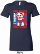 Donald Trump Shirt Great Again Portrait Ladies Longer Length