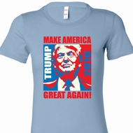 Donald Trump Make America Great Again Portrait Ladies Shirts