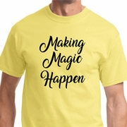Making Magic Happen Black Print Mens Shirts