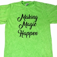 Making Magic Happen Black Print Mineral Tie Dye Shirt