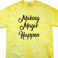 Making Magic Happen Black Print Spider Tie Dye Shirt