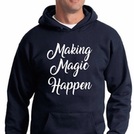 Making Magic Happen White Print Hoodie