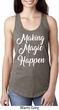 Making Magic Happen White Print Ladies Ideal Tank Top