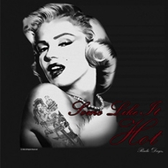 Marilyn Monroe Juniors Shirt Hottie Black Tee T-Shirt