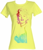 Marilyn Monroe Juniors T-shirt Beautiful Yellow Tee Shirt