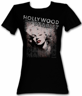 Marilyn Monroe Juniors T-shirt Hollywood Starlet Black Tee Shirt