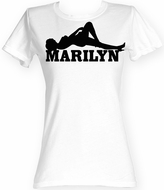 Marilyn Monroe Juniors T-shirt Laying Classic White Tee Shirt