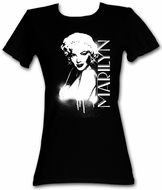 Marilyn Monroe Juniors T-shirt Sparkling Adult Black Tee Shirt