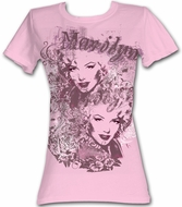 Marilyn Monroe Juniors T-shirt Two Faces Pink Tee Shirt