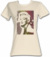 Marilyn Monroe Juniors T-shirt Vintage Portrait Natural Tee Shirt