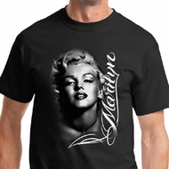 Marilyn Monroe Shirt Black and White Portrait