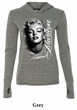 Marilyn Monroe Shirt Black and White Portrait Ladies Tri Blend Hoodie