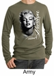 Marilyn Monroe Shirt Black and White Portrait Mens Long Sleeve Thermal