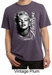 Marilyn Monroe Shirt Black and White Portrait Mens Pigment Dyed Tee