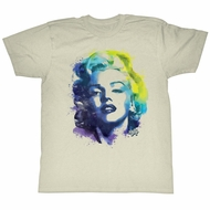 Marilyn Monroe Shirt Color Splat Sage T-Shirt