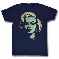 Marilyn Monroe Shirt Looking Green Navy T-Shirt