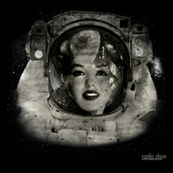 Marilyn Monroe Shirt Space Woman Adult Black Tee T-Shirt