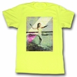 Marilyn Monroe Shirt Waves Adult Yellow Tee T-Shirt