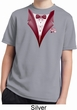 Maroon Tuxedo Kids Moisture Wicking Shirt