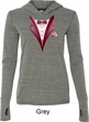 Maroon Tuxedo Ladies Tri Blend Hoodie Shirt
