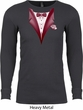 Maroon Tuxedo Long Sleeve Thermal Shirt