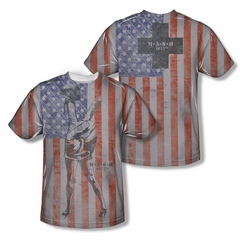 Mash Shirt American Flag Sublimation Youth Shirt Front/Back Print
