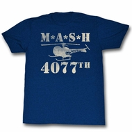 MASH Shirt Helicopter Navy Blue T-Shirt