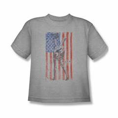 Mash Shirt Kids American Flag Grey Youth T-Shirt