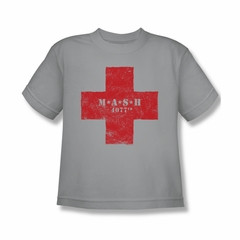 Mash Shirt Kids Red Cross Silver T-Shirt