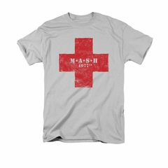 Mash Shirt Red Cross Silver T-Shirt