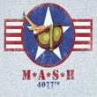 MASH Shirt Stripes Adult Athletic Heather Tee T-shirt
