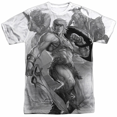 Masters Of The Universe B&W Sublimation Shirt