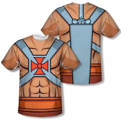 Masters Of The Universe He Man Costumes Sublimation Shirt Front/Back Print