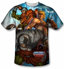 Masters Of The Universe Heroes And Villains Sublimation Shirt