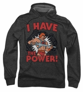 Masters Of The Universe Hoodie Sweatshirt I Have The Power Charcoal Hoody
