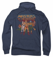 Masters Of The Universe Hoodie Sweatshirt Team Of Heroes Navy Adult Hoody