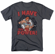 Masters Of The Universe Shirt I Have The Power Adult Charcoal Tee