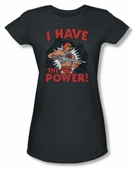 Masters Of The Universe Shirt Juniors I Have The Power Charcoal Tee