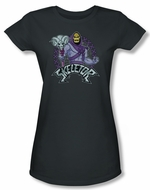 Masters Of The Universe Shirt Juniors Skeletor Charcoal Tee T-Shirt