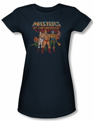 Masters Of The Universe Shirt Juniors Team Of Heroes Navy Tee