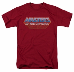 Masters Of The Universe Shirt Logo Adult Cardinal Tee T-Shirt