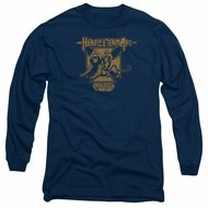 Masters Of The Universe Shirt Long Sleeve Hero Of Eternia Navy Tee T-Shirt