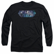 Masters Of The Universe Shirt Long Sleeve Space Logo Black Tee T-Shirt