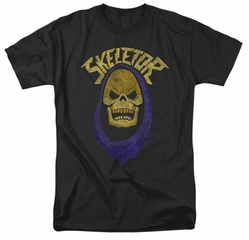 Masters Of The Universe Shirt Skeletor Hood Adult Black Tee T-Shirt