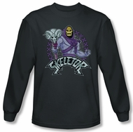 Masters Of The Universe Shirt Skeletor Long Sleeve Charcoal Tee T-Shirt