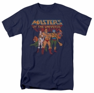 Masters Of The Universe Shirt Team Of Heroes Adult Navy Tee T-Shirt