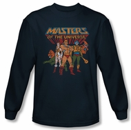 Masters Of The Universe Shirt Team Of Heroes Long Sleeve Navy T-Shirt
