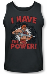 Masters Of The Universe Tank Top I Have The Power Charcoal Tanktop