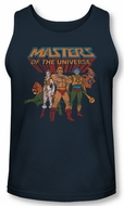 Masters Of The Universe Tank Top Team Of Heroes Navy Tanktop